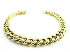 Goldkette Double Armband Vergoldet 24 kt Feingoldauflage 6,7 mm