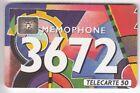 VARIETE TELECARTE .. 50U F293B SC4AN T6 3672 01/93 0x1 ENVERS GE.44060 C.8€