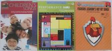 Lot of 3 Piano Songbooks Childrens Looney Tunes Late Elementary All with CD's