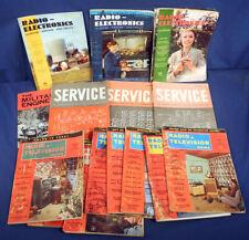15 Vintage 1955 1956 Radio Television News Electronics Service Magazines Tv Tube