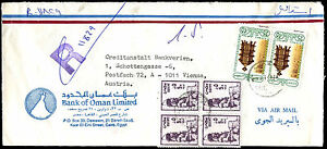 Egypt 1980's Registered Airmail Commercial Cover To Austria #C38947
