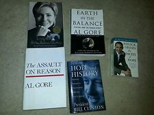 Lot of 5 Democrat Politics Books Clinton Gore Obama Living History US President