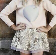 Aje Sorian Gold Sequin Skirt