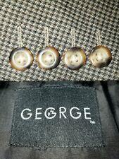 GEORGE Mens Size 50R Dark Brown Three Button Blazer/Sport Coat/Suit Jacket