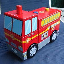 Camion Pompier Puzzle Bois Massif Luxe Signé ULYSSE France 18 x15x 8 Cm -820 Grs