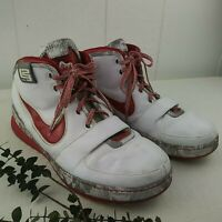 Nike LeBron James Men's Size Approx.11 - 11.5 Shoes Red & White The Six Lion