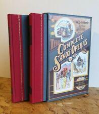 Gilbert & Sullivan Complete Savoy Operas 2 vols  Folio Society Hardback Slipcase