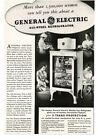 1934 GENERAL ELECTRIC Monitor Top Refrigerator Vintage Print Ad photo