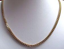 collier chaîne rétro maille gourmette bijou vintage couleur or poli brillant 153