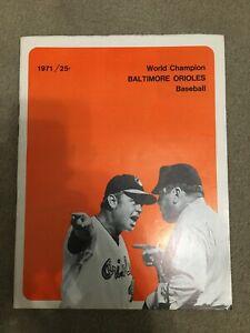 FM9-5 1971 Baltimore ORIOLES BASEBALL SCOREBOOK Earl Weaver
