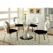 Furniture of America Sparling Contemporary Pedestal Dining Table, Small