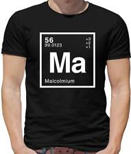 Element Name Malcolm Mens T-Shirt - Surname - First Name - Physics - Science