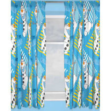 "OFFICIAL DISNEY FROZEN OLAF ""CHILLIN CHARACTER CURTAINS READY MADE READY TO HANG"