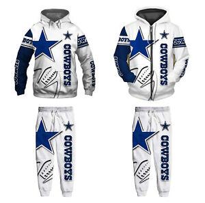 Dallas Cowboys 2Pcs Jogging Suit Casual Tracksuit Sportswear Sweat Suit Set