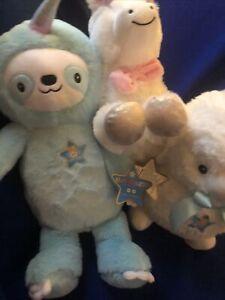 Fao Schwarz Glow Brights LED Sounds Unicorn Lamb Sloth Stuffed Animal Nightlight