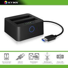 ICY-BOX IB-2502CL-U3 DUAL Dockingstation / Klonstation 2x 2,5 Zoll SATA HDD/SSD