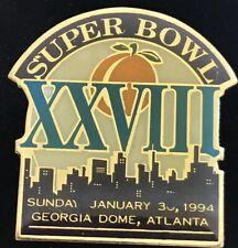 Vintage NFL Super Bowl XXVIII 28 Georgia Dome  Enamel Lapel Pin