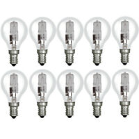 10x Osram Classic 64543 P 42w (=55w) Halogen E14 SES Screw Golf Ball Light Bulb