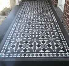 Traditional floor tiles for your porch, path or entry.