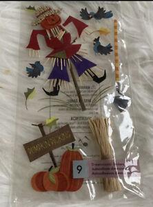 Jolees Boutique Pumpkin Picking Scrapbooking Stickers Scarecrow Fall