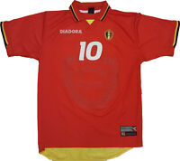 Vintage diadora Belgium Scifo Jersey vintage M World Cup 1998 Belgique