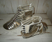 WOMEN'S GLACEE of the MOMENT SIZE 6 M SHOE WEDGE SANDAL SILVER COLOR