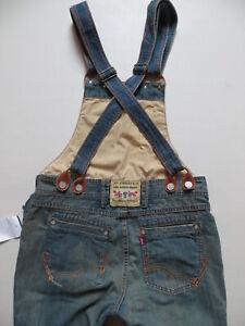Levi's Latzhose, Latz Jeans Hose Gr. M, W 30 - 32, NEU ! Vintage Denim Overall !