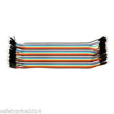 40 CÂBLES MÂLE 20cm câble de démarrage dupont 2,54 arduino pic platine d'essai