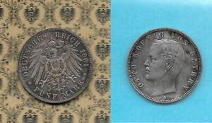 Bayern * König Otto : 5 Mark 1901 -> ss