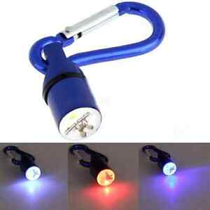 Mini Dog Pet Anti-lost Flashing Flash LED Light Up Safety Collar Tag Carabiner K