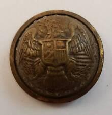 Ant. Civil War Era New York Excelsior Eagle Seal Shield Military Uniform Button