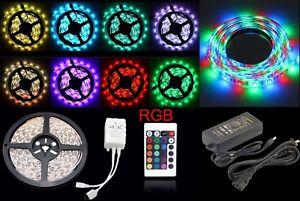 5-10M RGB LED STRIP LIGHTS COLOUR CHANGING FLEXIBLE TAPE LIGHTING SMD5050 DC12V