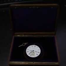 Vintage Pocket Watch wooden Box Albin Bouquin with Movement