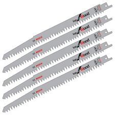 "5 Bosch S1531L Reciprocating Sabre Saw Blades WOOD Cutting Pruning 9.5"" 240mm"