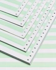 "Alliance Continuous Paper 14-7/8x11"" 1/2"" Green Bar 1Pt 20lb 2400/Ctn 50Ctns/PLT"