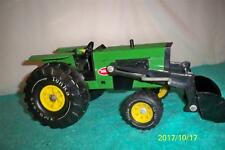 "Tonka 1976 Tractor With Loader Fully Working old Toy Pressed Steel 14 1/2"" Long"