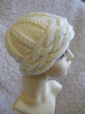 Vanilla Maze -  Ladies Hat - Easy Aran Knitting Pattern