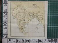 1926 India Tourist Mapa ~ Regular Temperatura Caliente Y Frío Estaciones