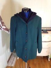 Vintage Mackintosh Wool Vest Coat 14P Green Navy Hooded USA