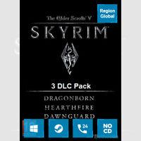 The Elder Scrolls V Skyrim 3 DLC Pack for PC Game Steam Key Region Free