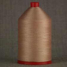 Forte 60s incollato NYLON 1.000 MTR BOBINA filati per cucire beige in pelle artigianale RIPARAZIONE