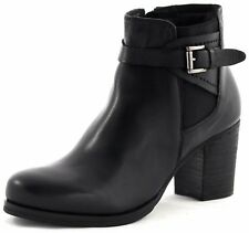 BLACK Damen Stiefelette Boots Echtleder schwarz Gr. 37-41 NEU 27,95 €