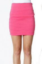 Sexy Medium Skirt Pink Office Casual Church Clubwear Fitted Biker Clubwear
