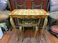 >>> BEST SET EVER >>> PAIR NESTING >>>VINTAGE >> GOLDEN >> FLORENTINE TABLES <<<