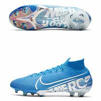 Nike Mercurial Superfly 7 Elite FG Firm-Ground Football Boots Blue UK10/EU45