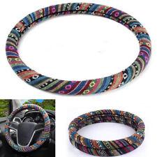 Colorful Car Steering Wheel Cover Cap Natural Fibers Soft Auto Anti-slip 38 CM