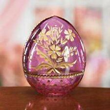 Lenox Pink Russian St. Petersburg Art Glass Floral Collector Egg NEW IN BOX