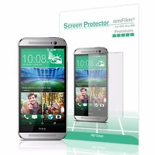 HTC One M8 amFilm Premium Real HD Clear (Invisible) Screen Protector (3 Pack)