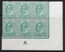 1/2 D bleu-vert contrôle une perf type H1 plaque 11 non montés Comme neuf