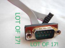 (Lot of 17) Jetway G01-COM9-20A-F  RS232 2.54 mm 10 pin header to DB9 20cm